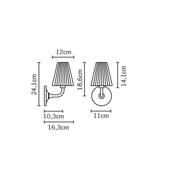 Настенный светильник Fabbian FLOW