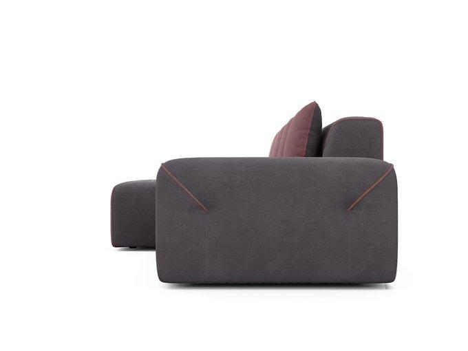 Угловой диван-кровать левый Portu темно-серого цвета