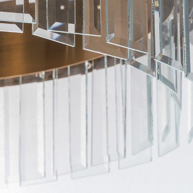 Люстра Ezra с подвесками из прозрачного стекла