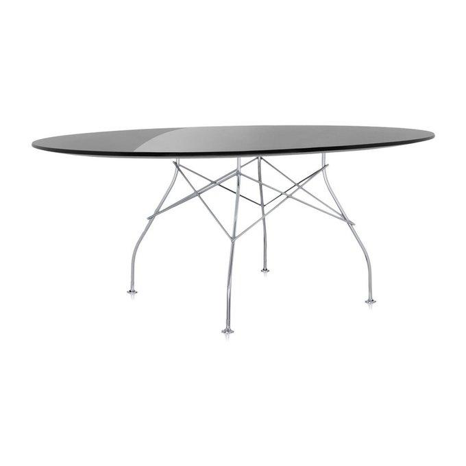 Обеденный стол Glossy с черной столешницей