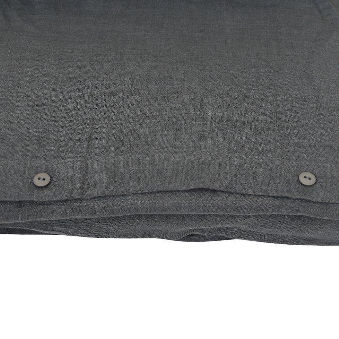Пододеяльник изо льна темно-серого цвета 200х220