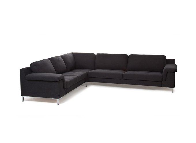 Угловой диван Balance черного цвета