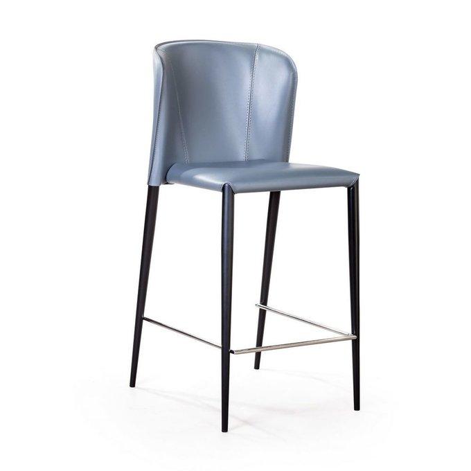 Полубарный стул Albert серо-синего цвета
