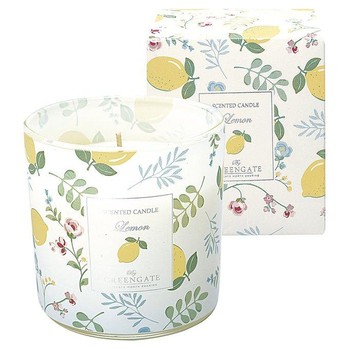 Ароматизированная свеча Limona white из стекла и воска