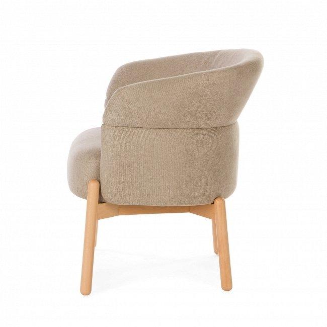 Кресло Wally Wood бежевого цвета