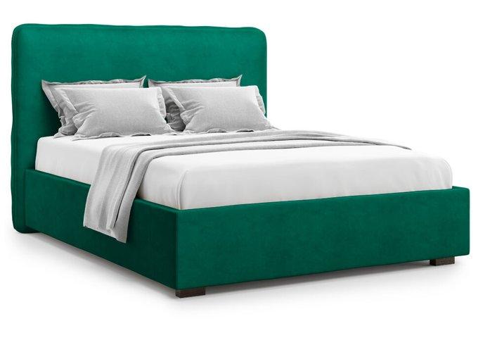 Кровать Brachano 160х200 зеленого цвета с подъемным механизмом