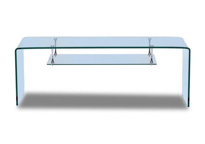 ТВ тумба из гнутого стекла