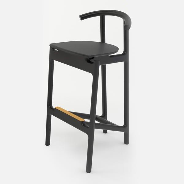 Барный стул Hans черного цвета