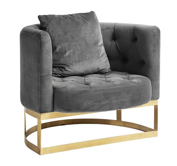 Кресло Lounge серого цвета