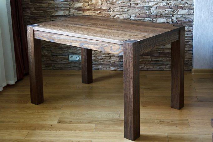 Обеденный раздвижной стол из массива дуба