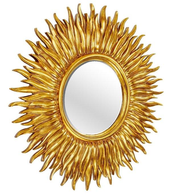 Настенное Зеркало-солнце Sunshine Gold