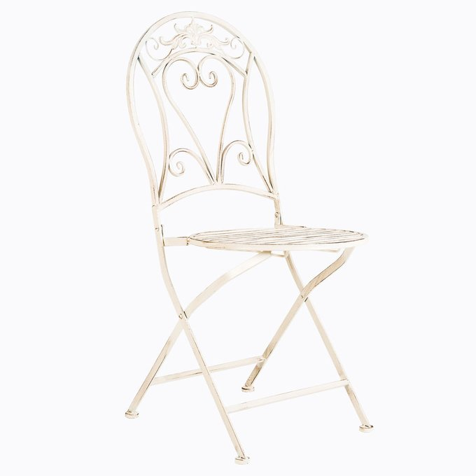 Складной стул «Шербур» (белый антик)
