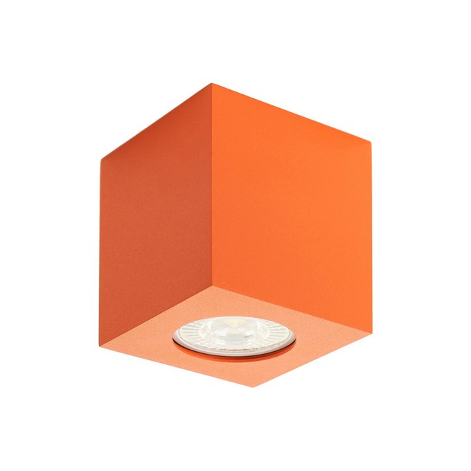 Точечный накладной светильник оранжевого цвета
