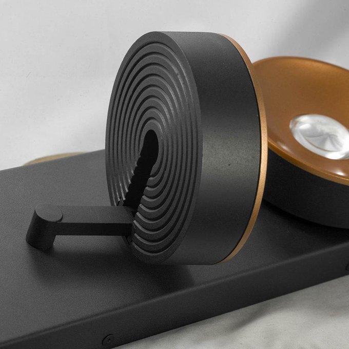 Светодиодный спот из металла черного цвета
