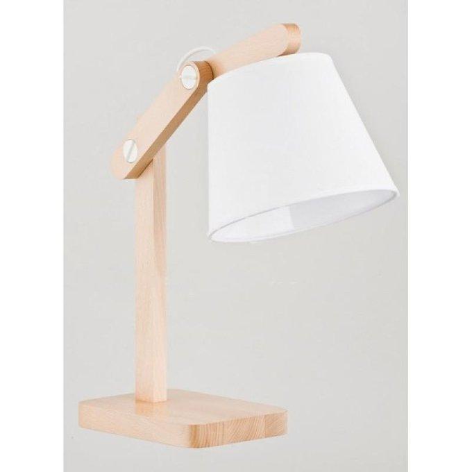 Настольная лампа Joga White с белым плафоном