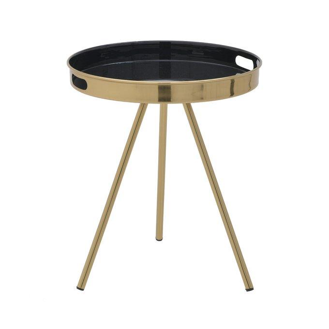 Кофейный столик черно-золотого цвета