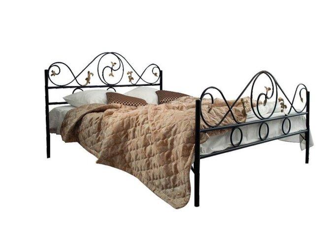 Кованая кровать Венеция 1.8 с двумя спинками 180х200