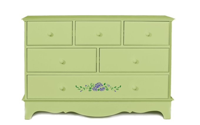 "Комод ""Belle Fleur Olive"" с объемным рисунком"