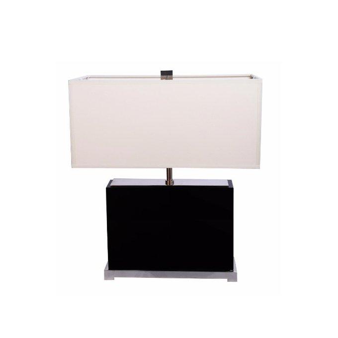 Настольная лампа Crystal с белым абажуром