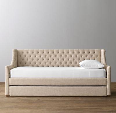 Диван-кровать Klick бежевого цвета 90х200