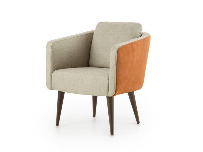 Кресло Алес бежево-оранжевого цвета