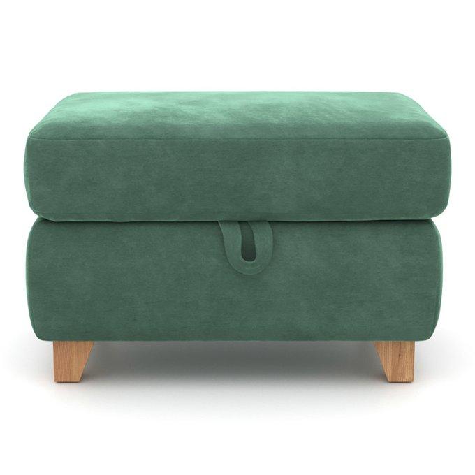 Пуф Mendini MT с ящиком зеленого цвета