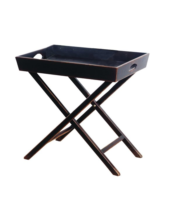 Раскладной кофейный столик из массива дерева