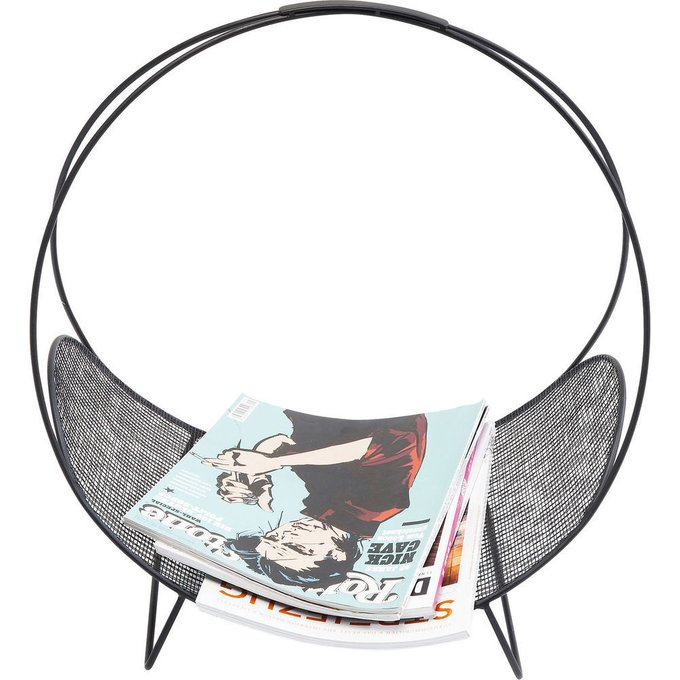 Подставка для журналов Mesh черного цвета