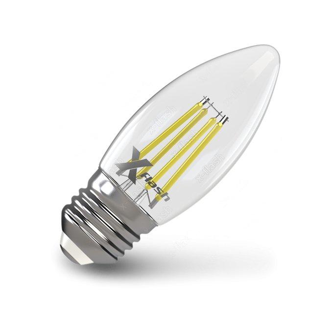 Лампа светодиодная свеча Свеча прозрачная