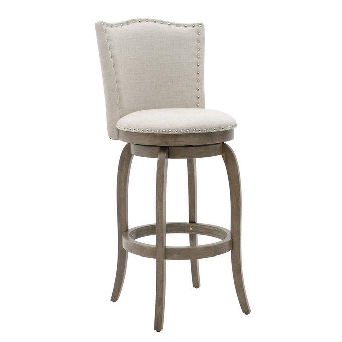 Барный стул из дерева и хлопка