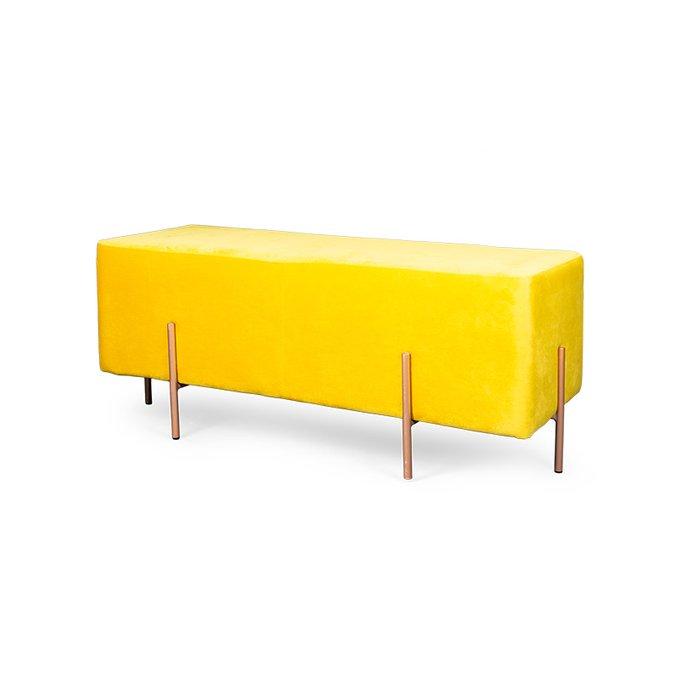 Банкетка Amy желтого цвета