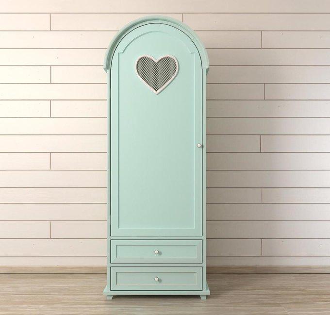 Шкаф одностворчатый Adelina в мятном цвете