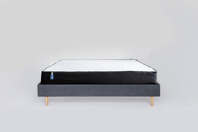 Кровать Grey серого цвета без изголовья 180х200