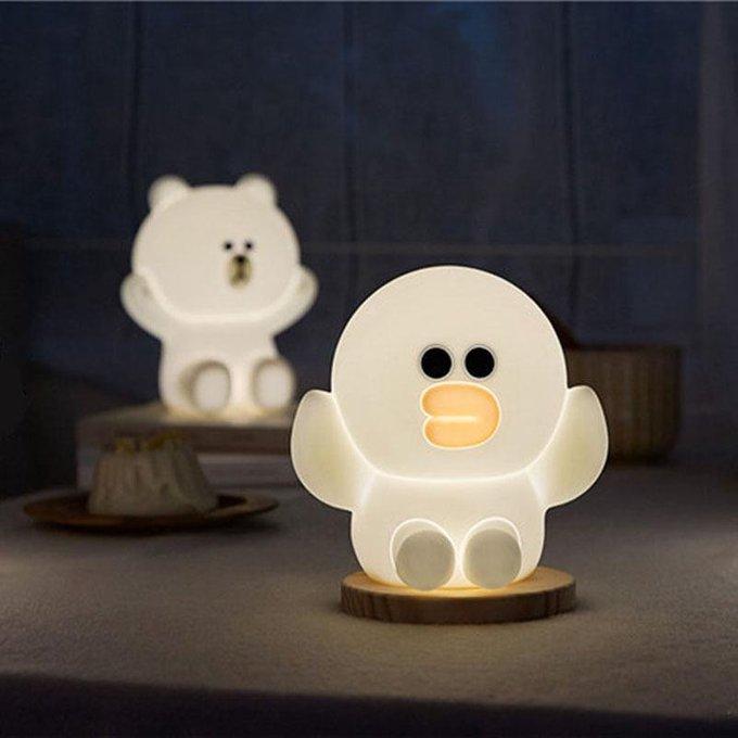 Детская настольная лампа Уточка из силикона