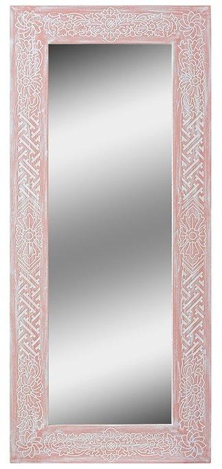Настенное зеркало Mas Salmon в раме из массива сосны