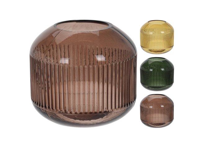 Стеклянная ваза коричневого цвета