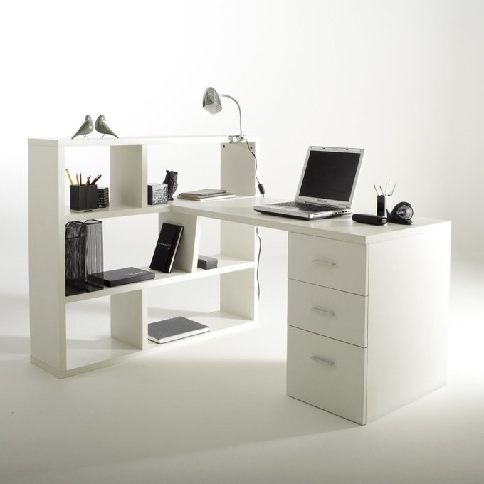 Письменный двухсторонний стол Fénon с шкафом для книг
