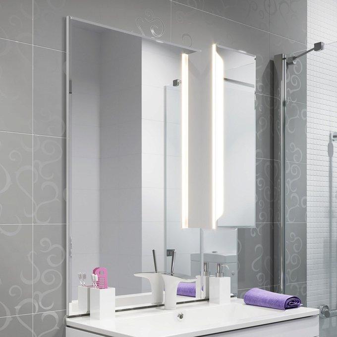 Зеркало-шкаф Praga 85 с дверцей со светодиодной подсветкой