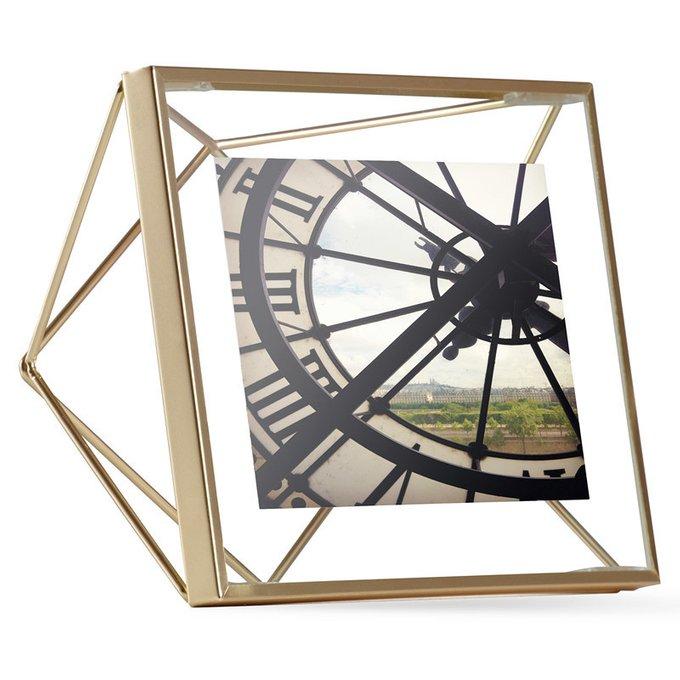 Фоторамка Prisma золотистого цвета 10х10