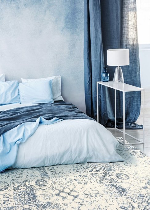 Ковер Siena сине-молочного цвета 160х230