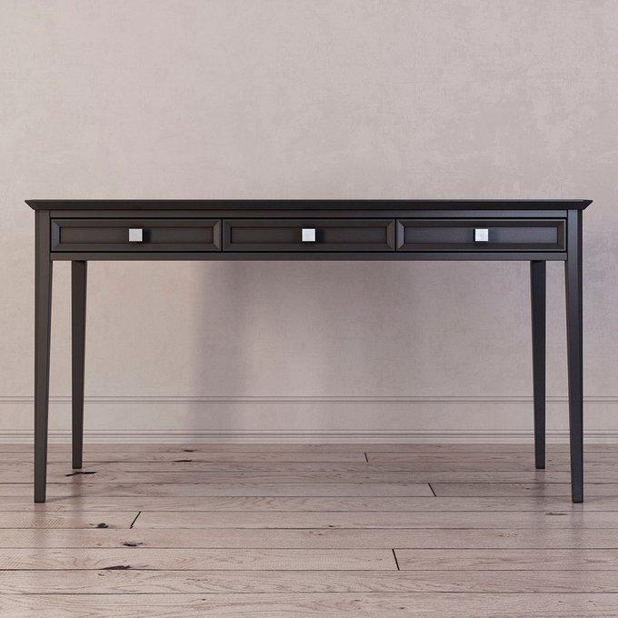 Письменный стол с тремя ящиками Ellington черного цвета