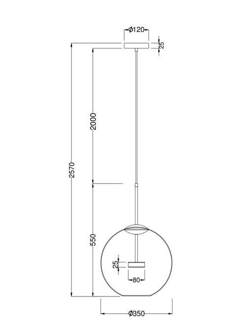 Подвесной светильник Cometa с плафоном из стекла