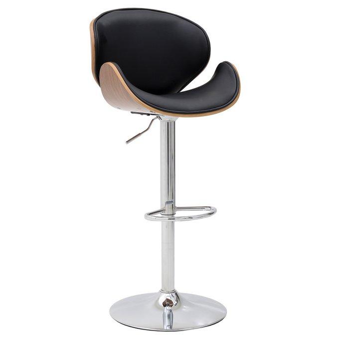 Барный стул с кожаным сиденьем