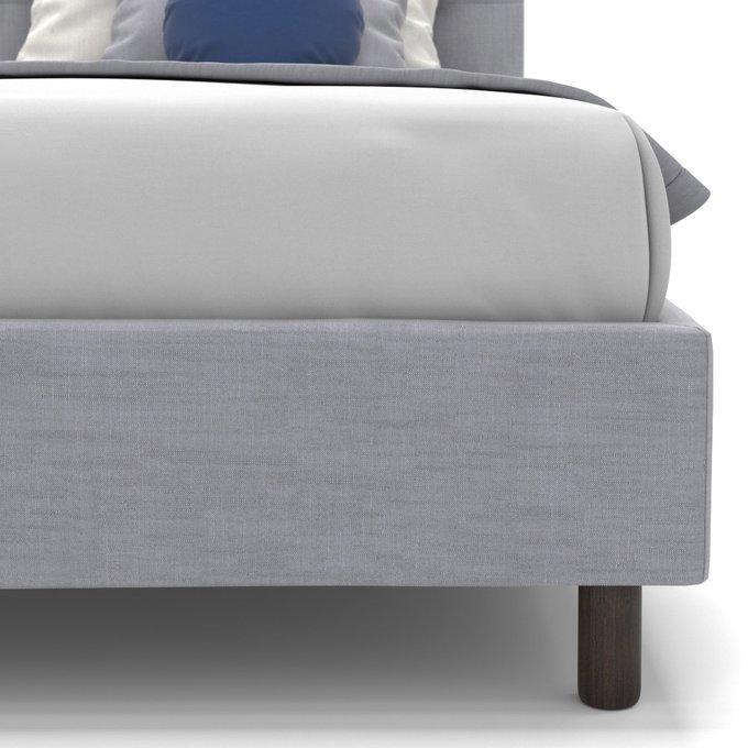 Односпальная кровать Avery светло-серого цвета 90х200