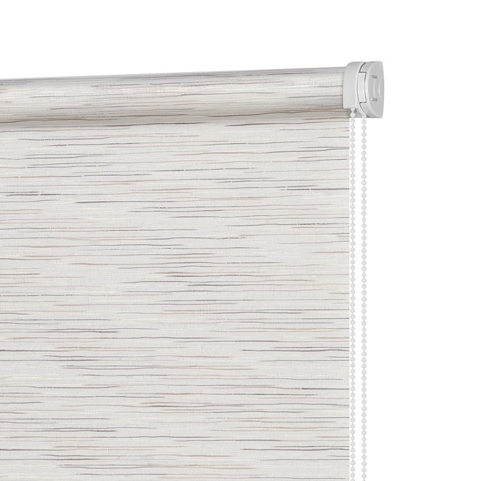 Штора Миниролл Комо бежево-коричневого цвета 50x160