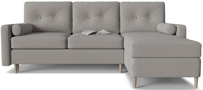 Диван-кровать угловой Белфаст 2 серого цвета