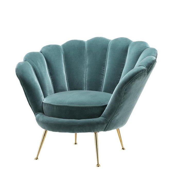 Кресло Chair Trapezium бирюзового цвета