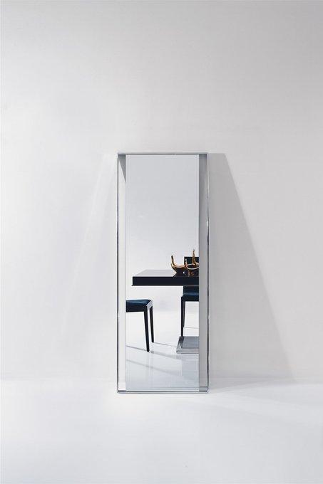 Напольное зеркало Exclusive в металлической раме серебристого цвета