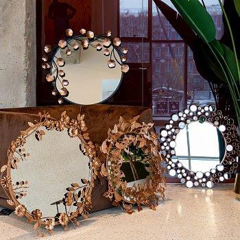 Настенное зеркало Гвендолин Роуз цвета Розовое золото
