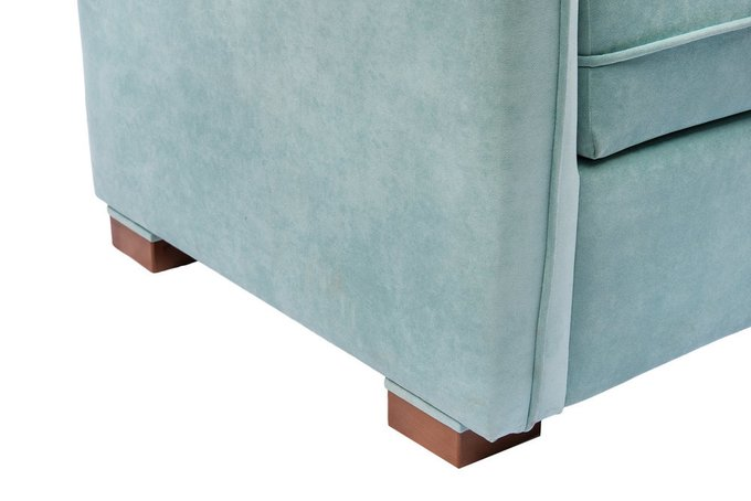 Прямой диван Arthur L бирюзового цвета